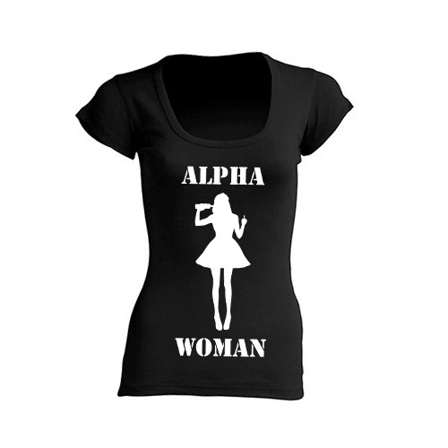 T-Shirt Alpha Woman Nera