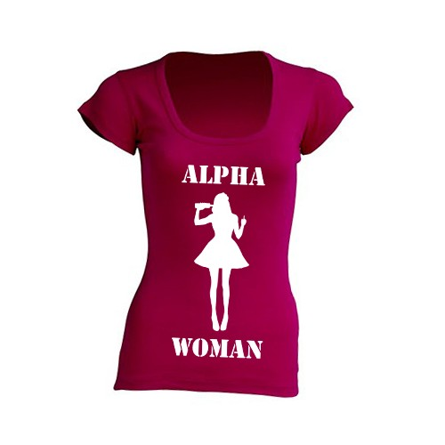 T-Shirt Alpha Woman Raspberry