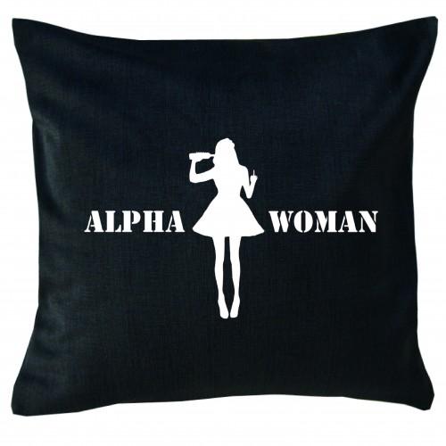 Cuscino Alpha Woman Nero